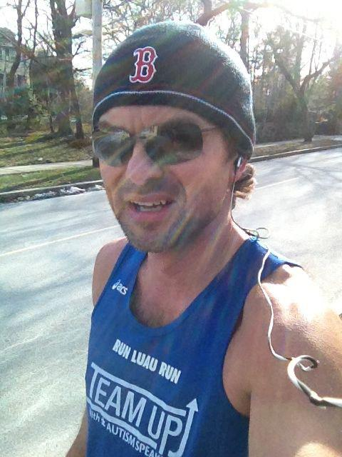 "After my 5-miler in 19ºF weather in a singlet and shorts - ""just get me out of here!!!"""