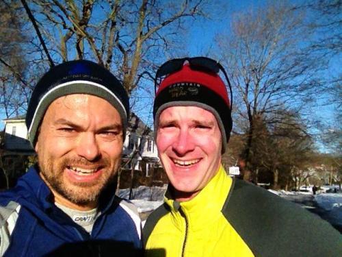 post-12-miler on Monday with my bud JB