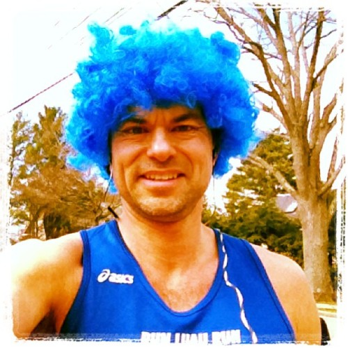 Five lunch time miles about town in the 'fro on World Autism Awareness Day