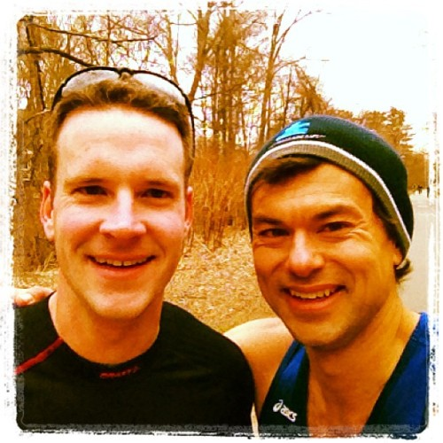 Me and JB - post-31-miler...smiling because we're done.